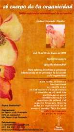 Afiche- el cuerpo de la organicidad (taller-residencia)